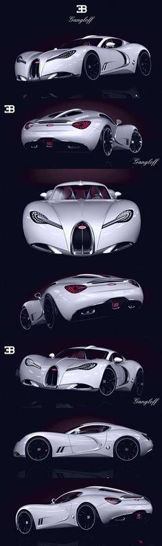 Bugatti Gangloff concept car, Invisium by Paweł Czyżewski. ♥✤