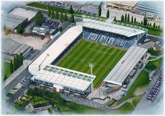 The Hawthorns in Art, home of West Bromwich Albion F.C. Great gifts @ sportsstadiaart.co.uk......
