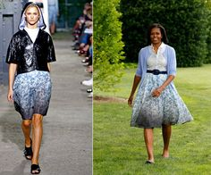 Ripped from the Runway: Michelle Obama Rocks Boy. by Band of Outsiders (The First Lady is all About Fresh Food and Fresh Style!) | StyleBlazer