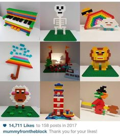 """141 Likes, 4 Comments - Still Mummy From The Block  (@mummyfromtheblock) on Instagram: """"Here's my #bestnine2017 thank you for all your likes! Wishing you all the best for 2018 . . . #lego…"""""""