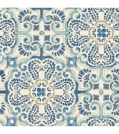 WallPops® NuWallpaper™ Peel & Stick Wallpaper-Florentine Tile,