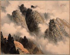 Gyokudo Kawai. Paesaggio montano con nuvole e pioggia (San'u shinsei). 1929. Nikaido Museum