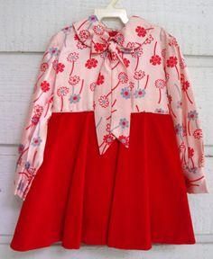 Vintage Satin and Velvet Girl's Dress New never by breedbabynyc