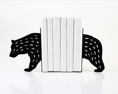 Bookends - Bear- laser cut for precision these metal bookends will hold your favorite books via Etsy