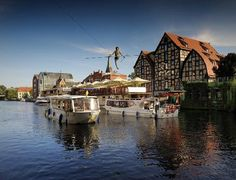 Brda river in Bydgoszcz, I remember walking along the river w/ my mom when I was a little girl. <3