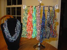 Beautiful Crotched Ladder Yarn Necklace/Scarfs called by sabradee3, $7.99