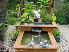 Beautiful backyard pond ideas for all budgets | 2-level wood framed container pond