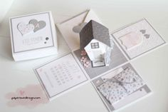 Explosionsbox – Seite 2 Love Scrapbook, Wedding Scrapbook, Scrapbooking, Boite Explosive, Card In A Box, Tarjetas Pop Up, Diy Gifts To Make, Exploding Box Card, Diy And Crafts