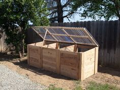 This is my 3 bin composter I just built. It will be a great way to get a lot of compost for my gardens. see more of my stuff at www.thebackyardfarmer.net