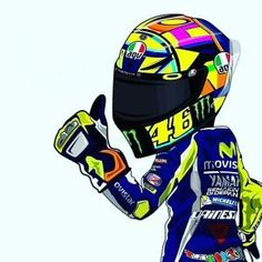 "Vale ""Cartoon Racing"" by Jenna_Lisa Valentino Rossi Logo, Motogp Valentino Rossi, Motos Yamaha, Yamaha Motorcycles, Volleyball Motivation, Motorcycle Art, Bike Art, Motorcycle Tattoos, Yamaha Nmax"