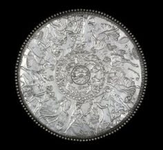 The Mildenhall Great Dish, 4th century C.E., silver, 60.5 cm diameter (The British Museum)  Reliefs are like drawing *with* texture as a medium.