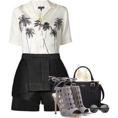 Ellery Magnetic Shorts by arjanadesign on Polyvore featuring polyvore fashion style rag & bone E L L E R Y Gianvito Rossi Kate Spade Tory Burch Blossom Copenhagen