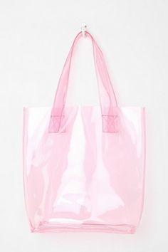 Transparent bags are sooo cute.