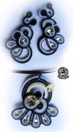 Black-White soutache set
