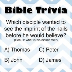 16 Best Bible Trivia images in 2014 | Bible knowledge