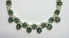 bridal necklace-tutorial for beginners-crystal and pearls beads necklace