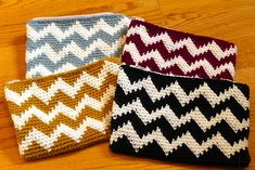 Ravelry: The Chevron Mini Clutch pattern by Sara Dudek