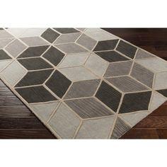 Wilkins Hand-Tufted Geometric Gray Area Rug & Reviews | AllModern