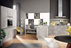 Luxury Stone and Concrete Kitchen Finishes available for design, supply and installation at LWK Kitchens SA