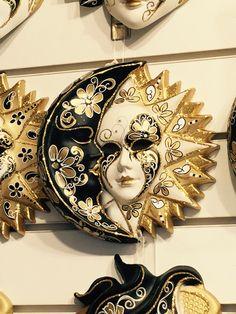 Venetian sun and moon Sun Moon Stars, Sun And Stars, Costume Venitien, Sun Wall Decor, Venice Mask, Venetian Carnival Masks, Moon Images, Sun Art, 3d Studio