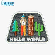 Rustine thermocollable, Hello World - Mokuyobi Threads #LeBonMarche #BrooklynRiveGauche #brooklyn #newyork #ny #nyc #fashion #mode #accessories #accessoires
