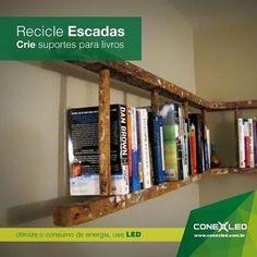 Encontrar maneiras para reutilizar ou reciclar velhos objetos é um jeito de deixar seu ambiente com uma aparência única e criativa. Como o reaproveitamento de escadas além de diferente você cria suportes úteis para organizar seus livros. #GrupoConex #Conex #Conexled #Recicle #Sustentabilidade #PorUmMundoMelhor #PorUmaVidaMelhor #VamosReciclar #VamosAproveitar #EconomiaColaborativa #InstaCool #InstaSustentavel #InstaGreen by conexledoficial http://ift.tt/1qXoYRR