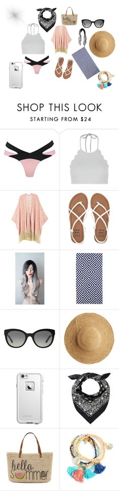 """""""beach vibes"""" by glitterbabe518 on Polyvore featuring Agent Provocateur, Marysia Swim, Melissa McCarthy Seven7, Billabong, Sunnylife, Burberry, Flora Bella, LifeProof, Straw Studios and plus size clothing"""