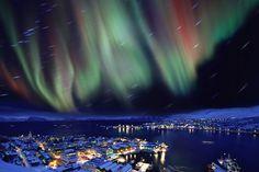Nordlichter über Norwegen