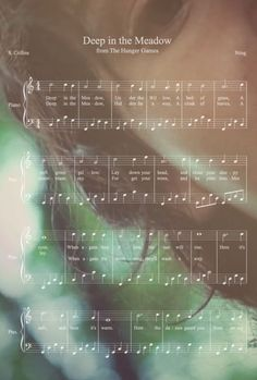 Deep in the meadow sheet music