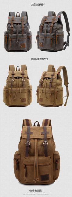 Canvas Drawstring Backpack for Men