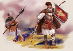 """Aici vii hatul."" The Moldovan militia reflected the raid of the Tatars.  Stefan the Great. Moldavian warriors,of the 15th century by Nikuloki (Sergiu Niniku)"