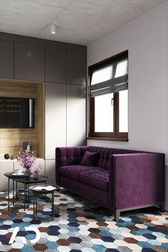 📨  biuro@amadeusz.design 📞 +48 609 999 467   #office #sofa #violet #purple #purpurowa #fioletowa #nowoczesna #modern #abstract #amadeusz #design #amadeusz #design #amadeuszdesign #domart #architektwnetrz #projektowaniewnetrz  #architekturawnetrz #dobrzemieszkaj #interior #interiordesign #aranzacjawnetrz #domoweinspiracje #architecture #wystrój #wnętrz #homedecor #home #decor #beauty Sofa, Couch, Studio, Home Decor, Furniture, Design, Decoration Home, Room Decor, Settee