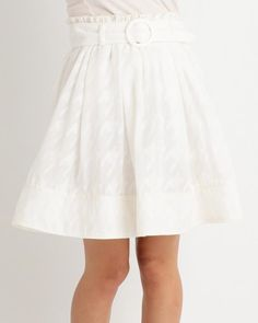 千鳥格子ベルト付スカート