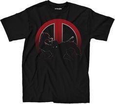 Deadpool Shadows T-Shirt: Marvel Comics Deadpool Mens T-Shirt