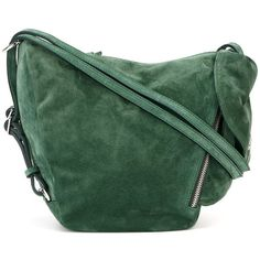 Manu Atelier Mini Fernweh Shoulder Bag ($483) ❤ liked on Polyvore featuring bags, handbags, shoulder bags, green, green handbags, green purse, mini handbags, shoulder bag purse and green shoulder bag