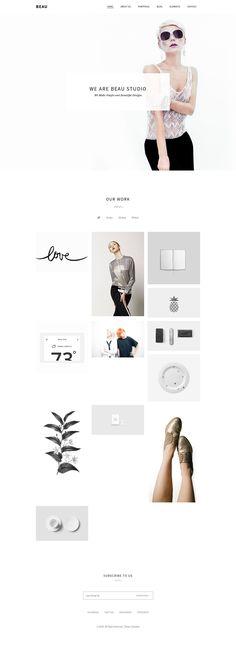 Beau - Minimal Portfolio\/Agency WordPress Theme #webdesign Download: