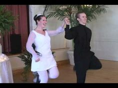 Unique Bride Performance of Irish River Dance at Her Reception