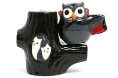 Vampire Owl on a Tree - Midnight Owl Salt & Pepper Shakers - Boing Boing Shop