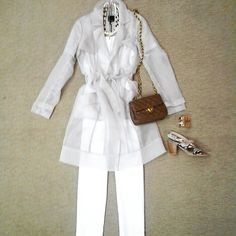 effiesinc #Lookoftheday!!! Marienbad sheer trench in taupe,@sylviabenson Haze nacklace in bone, white recover tank, Up pant in white, gold H cuff, caramel quilted crossbody,and @sacha_london Clover reptile sandal. #trenchtalk #sheerdelight #resortready #ootd  Read more at http://websta.me/n/effiesinc#ofOsrhIA2I5TewOW.99