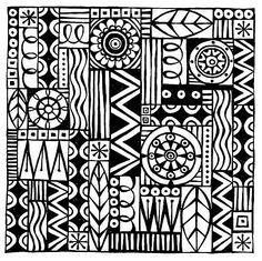 Zentangle Patterns 034-06