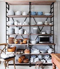 LOVE this! I think we can use this in the unfinished part of the basement for storage. The bottom can be high enough to stack 2 footlockers on top of one another. Maybe even add another to where the old workbench used to be, too. That should permanently add shelving to the basement area for DH.