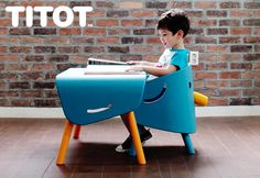 titot :: elephant chair and table for kids http://www.e-glue.fr/now/furniture/titot-elephant-kids-furniture/6340 #furniture #children #design