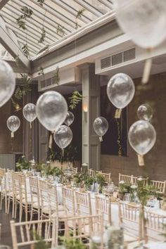 Wedding Venue and Party Decoration ideas, using balloons. Make your own and DIY Wedding Decor ideas. Rustic, elegant, table centrepiece and outdoor decorations Wedding Balloon Decorations, Wedding Balloons, Bridal Shower Decorations, Wedding Centerpieces, Centerpiece Ideas, Balloon Ceiling Decorations, Bridal Shower Balloons, Dinner Party Decorations, Bridal Shower Tables