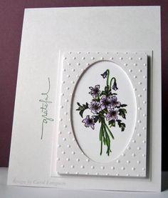 lovely violets framed in great design...