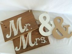 """Mr. & Mrs. Chair Signs - SOLD """"&"""" Signs $3"""