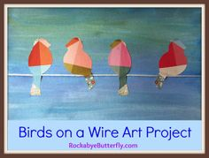 for using with my 'for the birds'(pixar short)  lesson -- adapt for diff size birds, inclusion, diversity, acceptance/bullying, etc, adapt using more traditional collage methods: Birds on a Wire Art Project