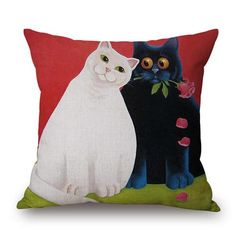 New European Style of The Most Fashionable Cat Pillow Covers