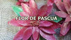 COMO HACER FLORES  DE PASCUA:  ADORNOS DE NAVIDAD