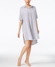 Dkny Striped Sleepshirt #mallchick #fashion