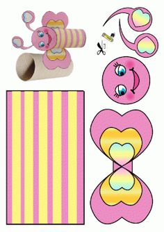 Flower Crafts Kids, Butterfly Crafts, Craft Activities For Kids, Preschool Crafts, Crafts For Kids, Toilet Paper Crafts, Alphabet Crafts, Easy Arts And Crafts, Mother's Day Diy